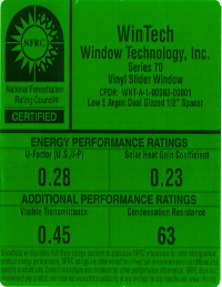 Low-E Argon Dual Window Sticker PDF