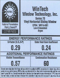 Low-E Argon Window Sticker PDF